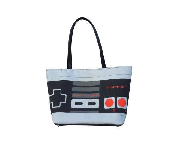 Large Printed Retro NES Nintendo Controller Handbag by OpThread, $75.00