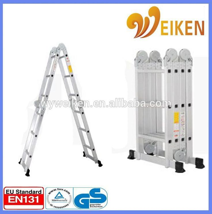 WK-103 Aluminium extension folding articulating multi ladder