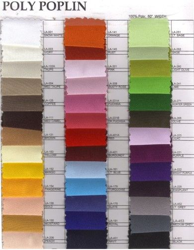Did you know?  Polyester is a category of polymers which contain the ester functional group in their main chain. They include naturally occurring chemicals, such as in the cutin of plant cuticles, as well as synthetics. Polyester is used extensively in #apparel and #home furnishings, from #shirts and #pants to #jackets and #hats, bed #sheets, #blankets, upholstered #furniture and computer mouse #mats.✔✔✔   Visit: http://thefabricexchange.com/poly-poplin-60/  #thefabricexchange #fabric #sale…