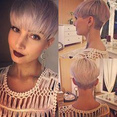 Heute war es mal wieder Zeit für einen Friseur Besuch  spitzen schneiden und meinen undercut kürzen lassen   #me #hair #shorthair #haircut #hairstyle #undercut #sidecut #pixie #pixiecut #friseur #beauty #beautiful #beautyqueen #greyhair #olaplex #olaplexdeutschland #blonde #love #pretty #photo #photooftheday #selfies #selfies