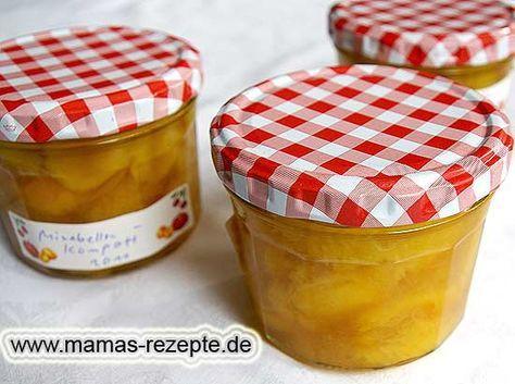 Rezept Mirabellenkompott einmachen auf Mamas Rezepte Homepage
