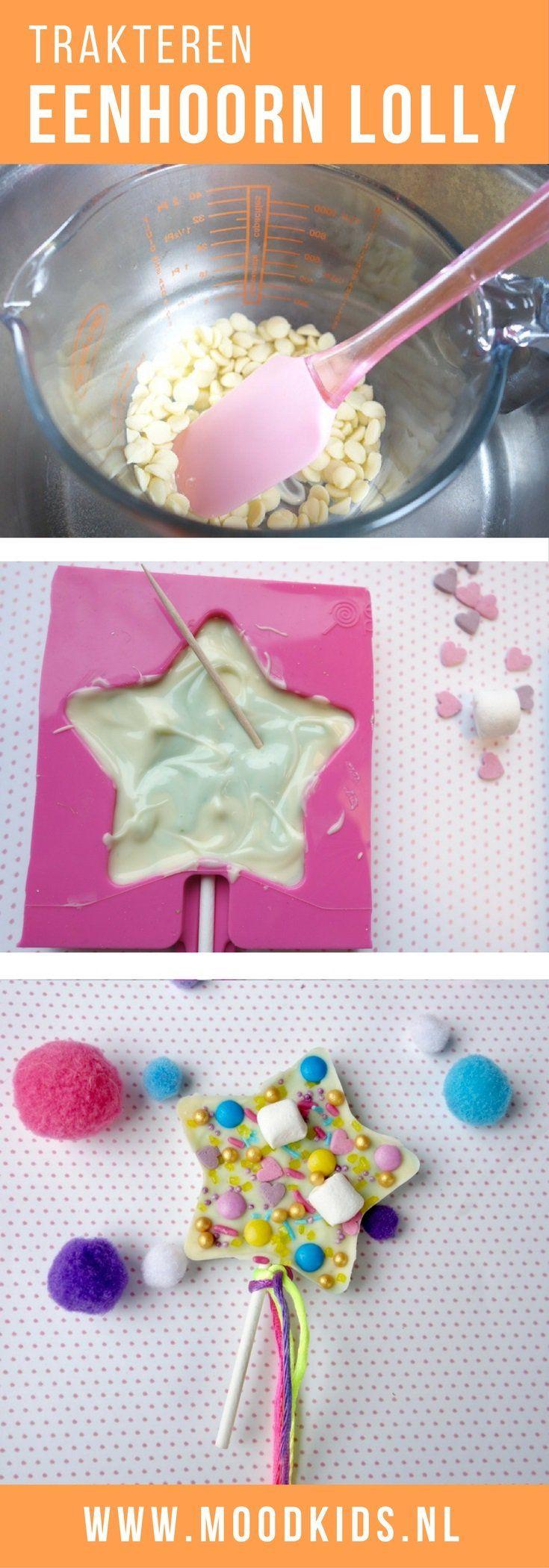 Een eenhoorn chocolade lolly maken als traktatie of cadeautje | MoodKids