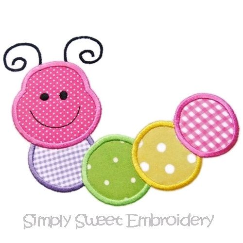 Caterpillar  Applique Machine Embroidery by SimplySweetEmbroider, $4.00