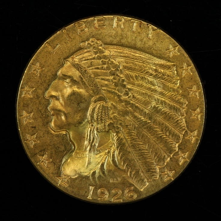 1926 Indian Head Quarter Eagle 2 5 2 1 2 Dollar Gold Coin