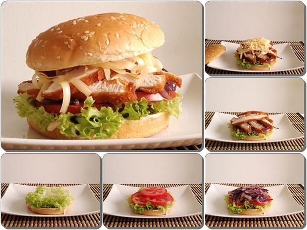 Rezept: Mega Putenschnitzel Burger mit selbstgemachter Sauce Bild Nr. 157