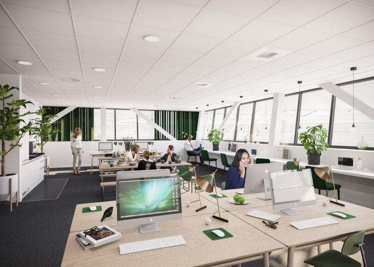 Office Stockholm Interior Design Scandinavian 3D Visualisation Render Archviz
