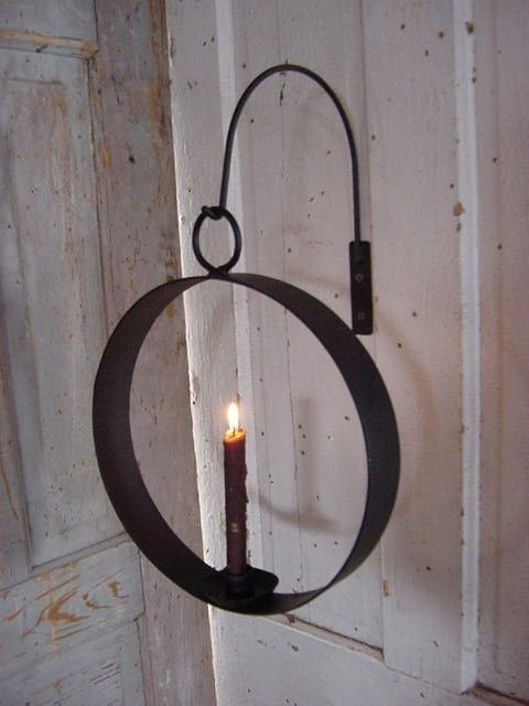 Hanging Iron Candleholder Circle of Love Industrial Simple Lighting. $55.00 USD, via Etsy.