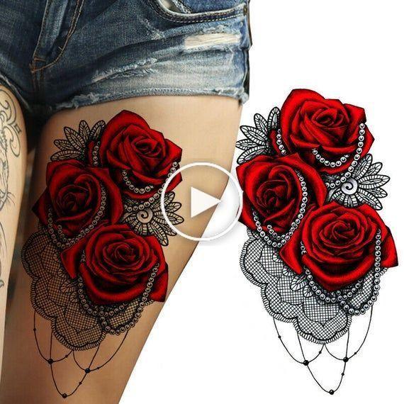 Pin En Tatuaje En El Muslo
