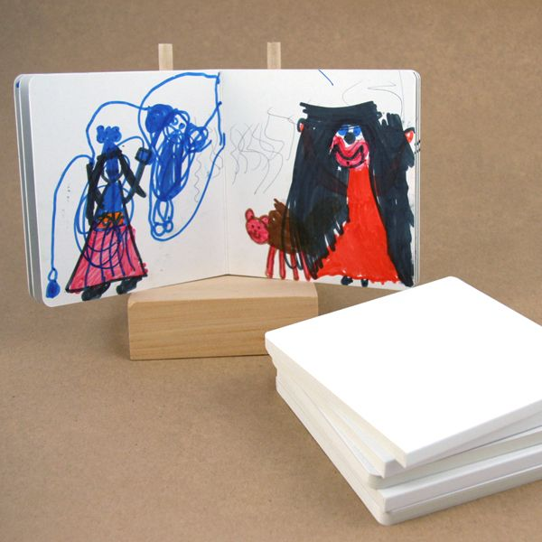 Blank board books. Wouldn't these be great to work on storytelling and give as an end of year gift?