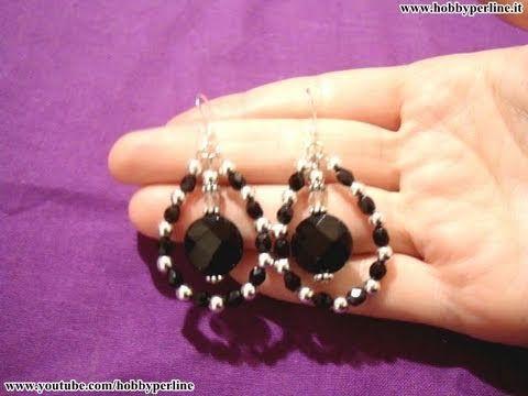 Bracciale con catena in acciaio e perle a foro largo | TECNICA - HobbyPerline.com - YouTube