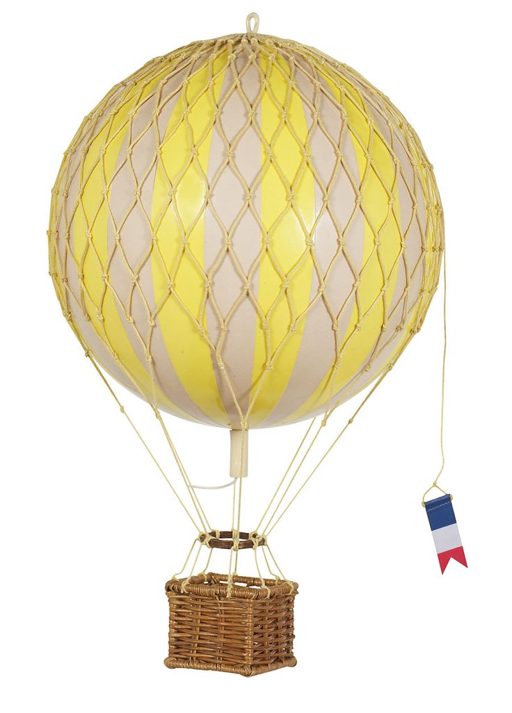 Vintage Hot Air Balloon Yellow