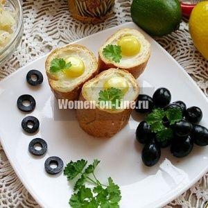 Яйцо в хлебе: необычный …