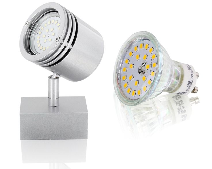 LED Spot Aufbaustrahler Druckguss GU10 230V - 4W 350lm - drehbar schwenkbar 360°…