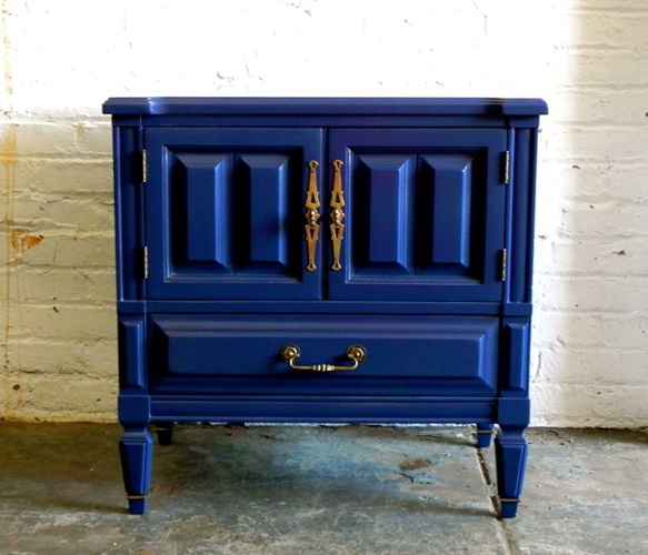 Vintage Indigo Side Table