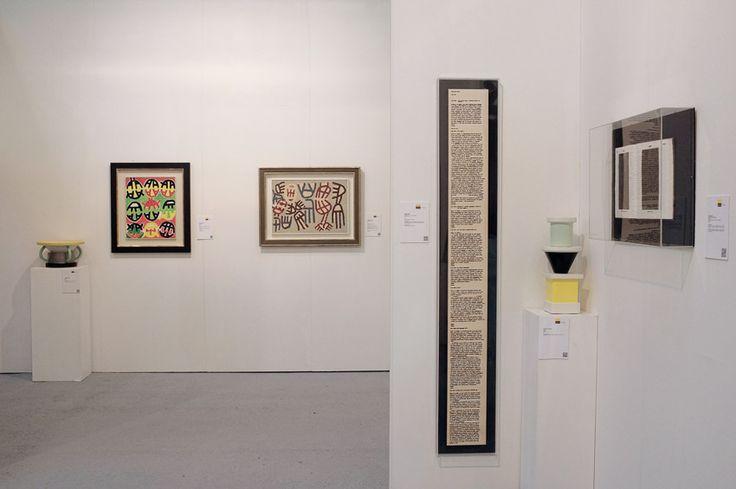 Padiglione 26, Stand B24, Studio Guastalla Arte Moderna e Contemporanea. Opere di Emilio Isgrò, Ettore Sottsass e Giuseppe Capogrossi