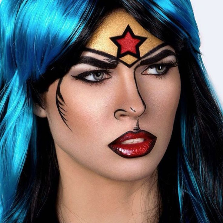 Best 25+ Wonder Woman Makeup Ideas On Pinterest | Wonder Woman Halloween Costume Superhero ...