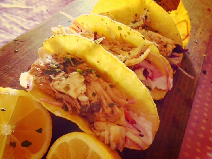 Poly's kitchen: Τάκος κοτόπουλου-Chicken tacos