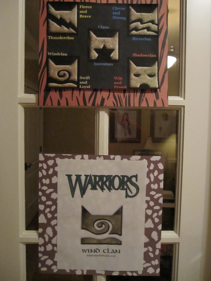 We printed several items from the official Warriors website including Adventure game character sheets, maps, and explanations of knacks, skills, and clans.