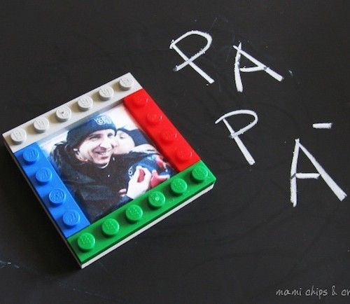 Lavoretti per la festa del papà: il portafoto calamita da creare con i lego