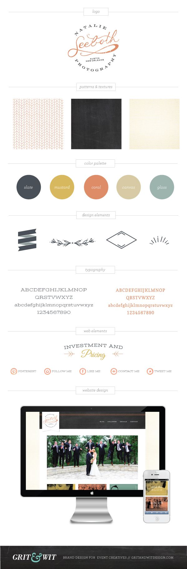 Natalie Seeboth Branding // via Grit & Wit // Brand Design for Photographers, Stylists and Event Creatives