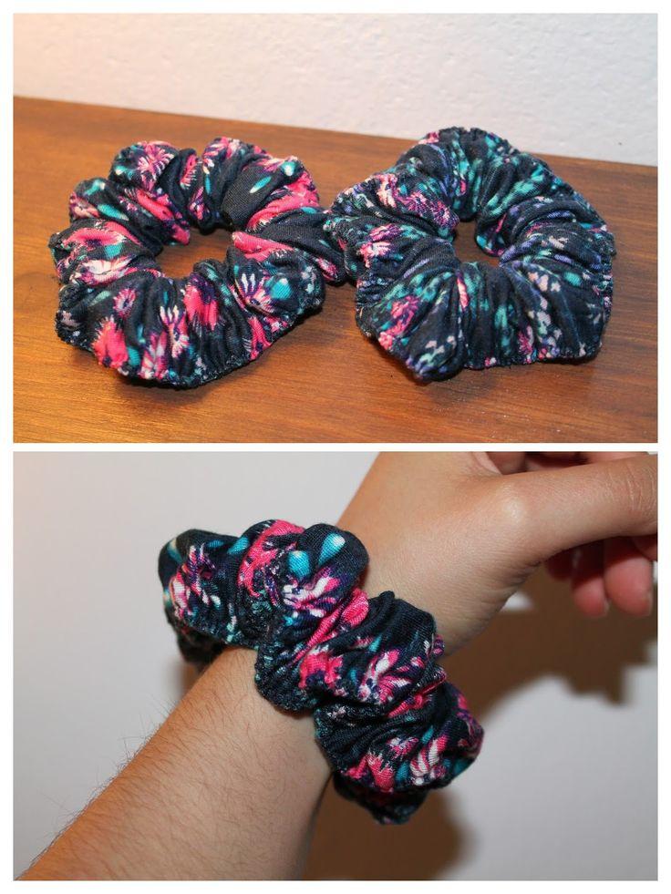 Scrunchie Style: Aqui está a minha recente criação. O tecido é de m...