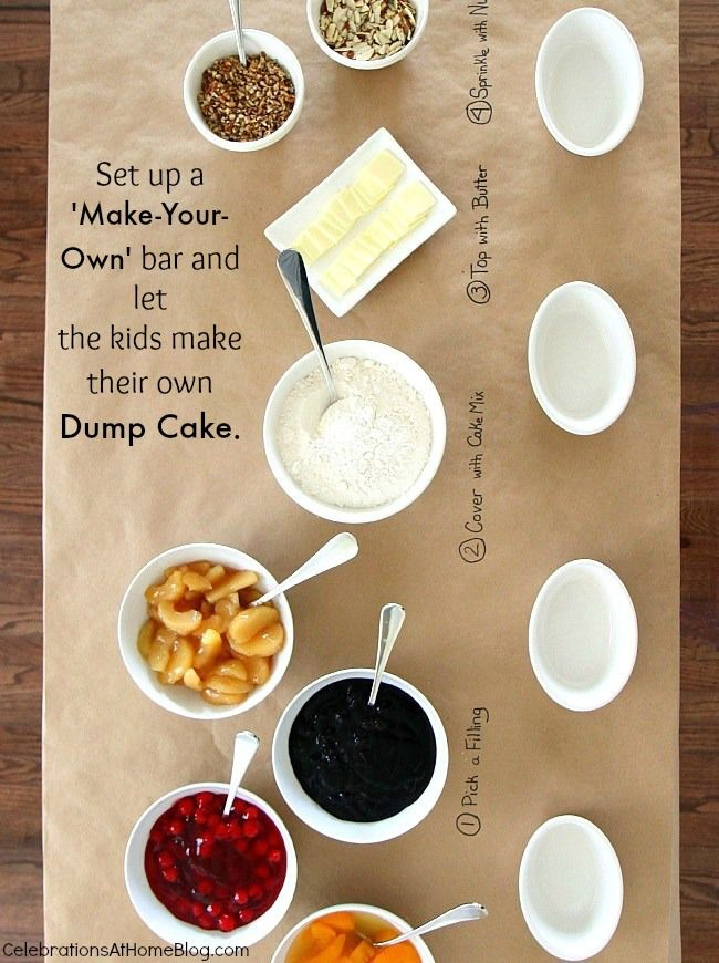 Entertaining Make Your Own Mini Dump Cakes Party Idea Recipe Celebrations At Home