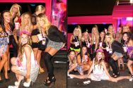 another awesome hens party in pink hummer limousine in Melbourne