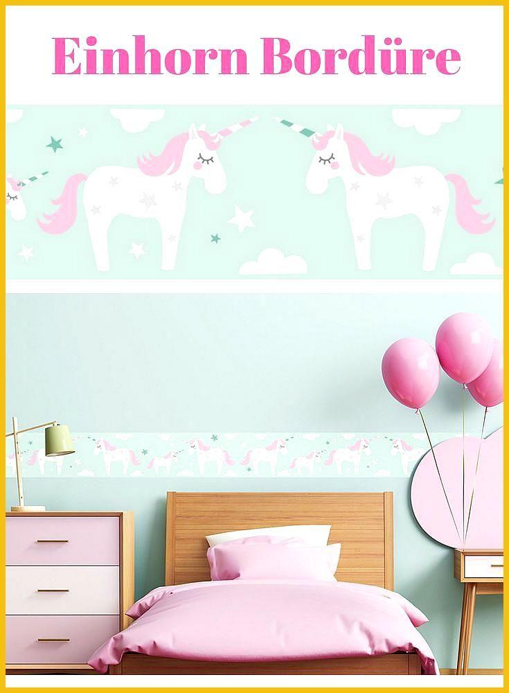 Einhorn Tapete Bord Re Bord Re Selbstklebend Unicorn Pink Mint Wandmontage Kinderzimmer Wandgesta Babyzimmer Wandgestaltung Kinder Zimmer Tapeten Borduren