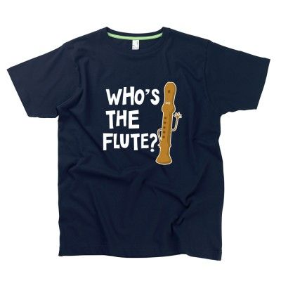 Who's The Flute Gent's T-Shirt by Hairy Baby