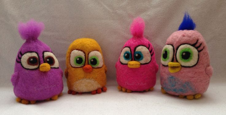 Needle Felted Angry Birds Movie Hatchlings