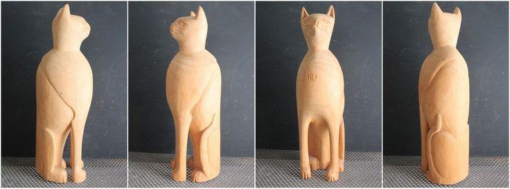 Винтажный 1940 большой деревянный кот, Rustic примитивного народного искусства. Это замечательный ручной работы Кот. Его зовут GARP. Он равен 16 дюймов,изношен повсюду и смягчается временем.