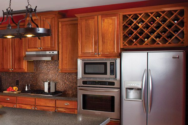 wine rack cabinet | the cabinet refacing process takes your old