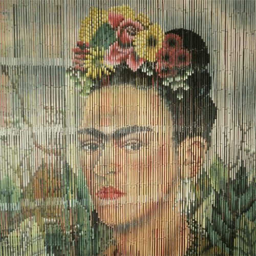 Bamboo Painted Curtains | BAMBOO CURTAIN FRIDA KAHLO | Holy Kitsch!
