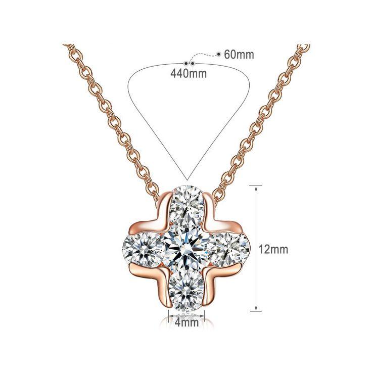 """""""Newbark"""": ожерелье, дизайн классический крест, 5 шт.,18 К розовое золото купить на AliExpress"""