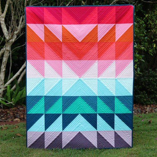 Sew a vibrant baby quilt that will liven up your nursery.