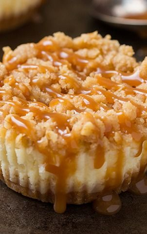usa made handbags Caramel Apple Mini Cheesecakes with Streusel Topping   Cooking Classy