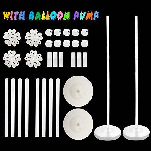 "Balloon Columns Arch - 2 set Balloon Arch with BALLOON PUMP Balloon Column Kit 48"" Height with Water Fillable Base Stand Kit #Balloon #Columns #Arch #with #BALLOON #PUMP #Column #Height #Water #Fillable #Base #Stand"