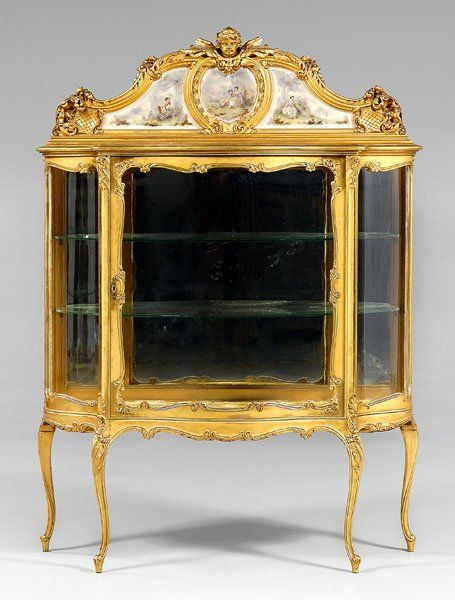 808: Louis XV Style Carved Gilt Vitrine, : Lot 808. Baroque DecorClassic  FurnitureAntique FurnitureFrench ...