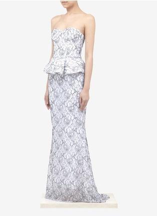 alice + olivia - Penelope strapless peplum mermaid gown | Multi-colour Evening Dresses | Womenswear | Lane Crawford