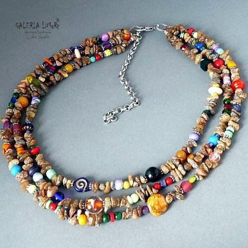 Baltic amber and coral necklace. One of a kind by keram on Etsy, $79.00