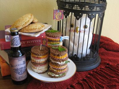 Butterbeer, pumpkin pasties and a tower of finger sandwiches makes perfect fare for any Harry Potter-esque festivities.