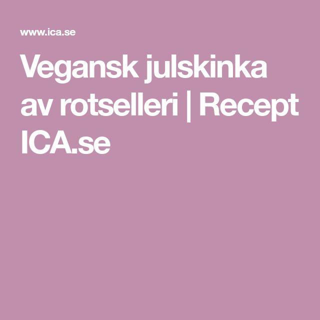 Vegansk julskinka av rotselleri | Recept ICA.se