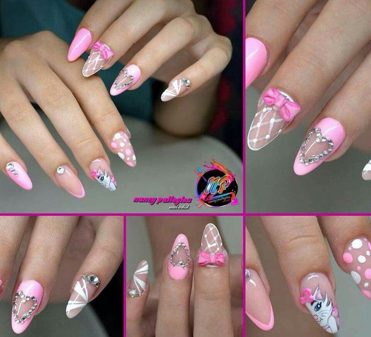 Nancy nail art cartoon