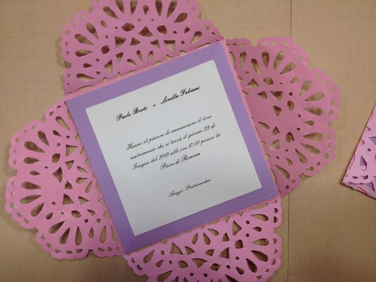 EMBROIDERY ANNOUNCENMT'S WEDDING