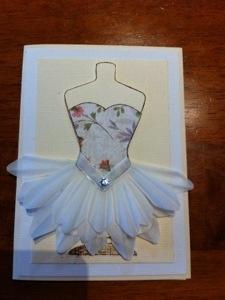 Ballerina card Kaszazz stamps