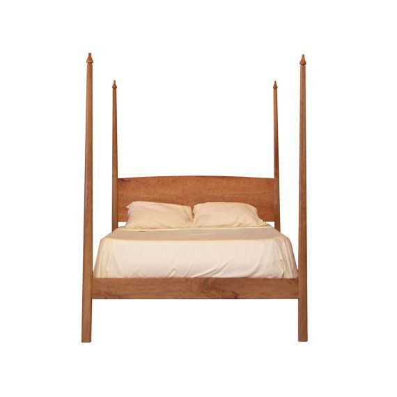Pencil Post Bed With Canopy Platform Solid Wood Organic Finish Shaker Style Twin Full Queen King Sizes For The Home Pinterest