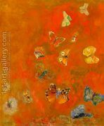 Evocation of Butterflies  by Odilon Redon