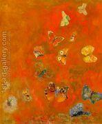 Evocation of Butterflies  by Odilon Redon