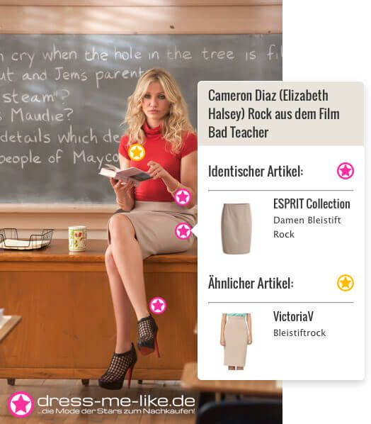 Cameron Diaz (Elizabeth Halsey) Rock (ESPRIT Collection - Damen Bleistift Rock) aus dem Film Bad Teacher