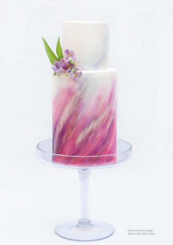 Watercolor Cakes for Your Artsy Wedding